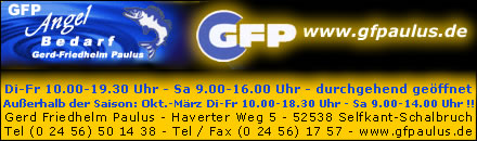 GFP Angel Bedarf
