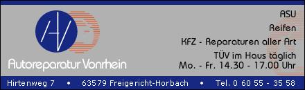Autoreparatur Vonrhein Freigericht-Horbach